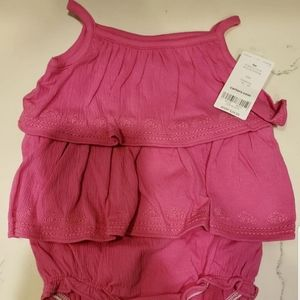 Carter's pink baby rompers